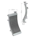 ALUMINIUM WATER RADIATOR (BENT) H.415MM L.200MM